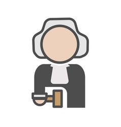 judge avatar icon on white background vector image