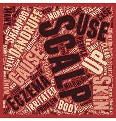 Scalp Eczema 3 text background wordcloud concept vector image vector image