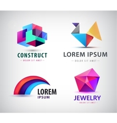 set of colorful abstract logos Design vector image vector image