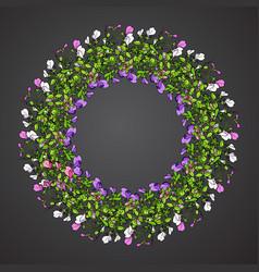 sweet pea wreath vector image