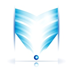 abstract line and square Stripe blue vector image
