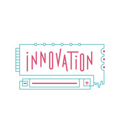 abstract of an innovation vector image