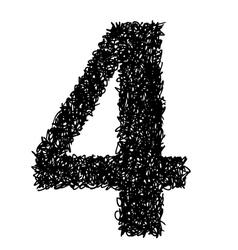 alphabet 4 vector image