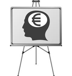 euro brain of a man vector image