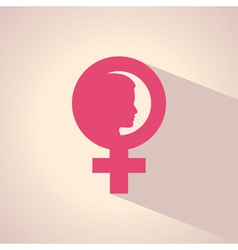 female face and symbol vector image vector image