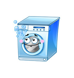 funny washing machine cartoon character vector image