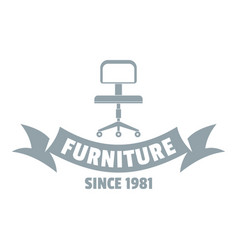 furniture office logo simple gray style vector image