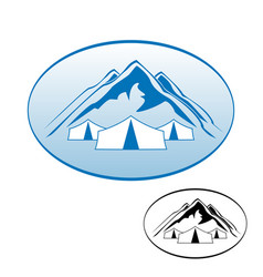 logo rest in the mountains vector image