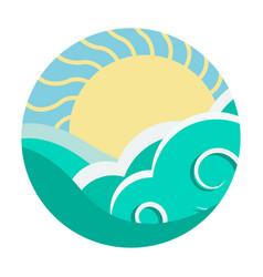 travel agency logo design template sea vector image