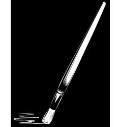 brush on black background vector image
