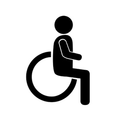disability sign wheelchair vector image