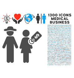marriage of convenience icon with 1300 medical vector image vector image