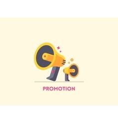 Megaphone icon Marketing promotion concept vector image