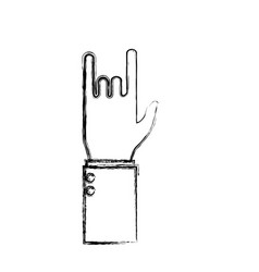 rock and roll symbol hand vector image vector image