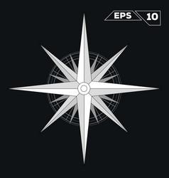 rose wind white flat star minimalist symbol vector image vector image