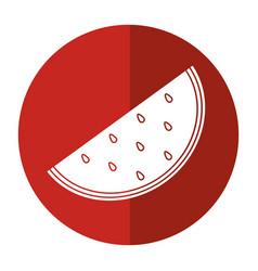 watermelon juicy fruit icon shadow vector image