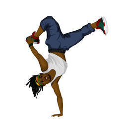 young man dancing vector image vector image