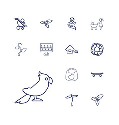 13 life icons vector