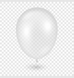 3d realistic transparent balloon icon vector image