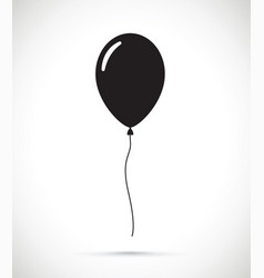 A black balloon vector