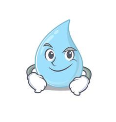 A mascot design raindrop having confident gesture vector