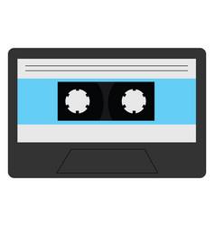 A vintage grey cassette or color vector