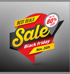 Black friday sale banner template special offer vector