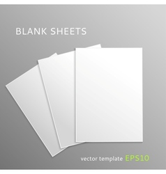 Blank paper sheets vector