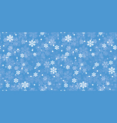 blue christmas snowflakes repeat pattern vector image