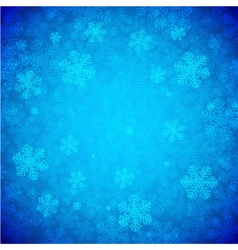 Blue Snowflakes Background vector image