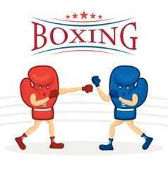 Boxing Gloves Character vector