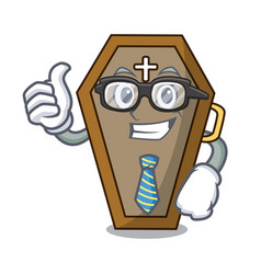 Businessman coffin character cartoon style vector