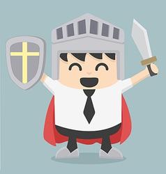 Businessman holding sword vector