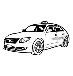 cartoon image of taxi icon car symbol vector image