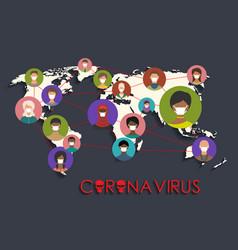 coronavirus wuhan china outbreak people wearing vector image