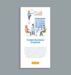 Create business proposal worker and laptop vector