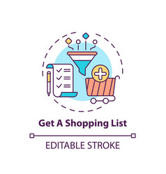 creating shopping list concept icon vector image