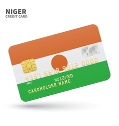 Credit card with Niger flag background for bank vector