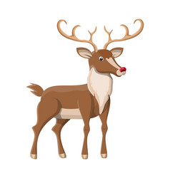 cute deer with antlers vector image