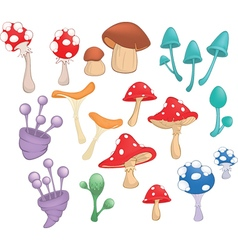 Different Mushrooms for Computer Game vector
