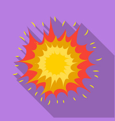 explosion icon in flat style isolated on white vector image