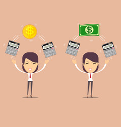 Financial advisor - bookkeeping services and vector
