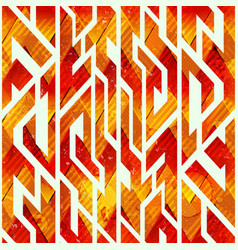 Fire color geometric seamless pattern vector