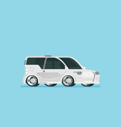 flat future car isolated on color background vector image