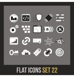 Flat icons set 22 vector