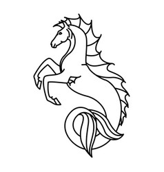 flat linear hippocampus vector image