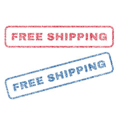 free shipping textile stamps vector image
