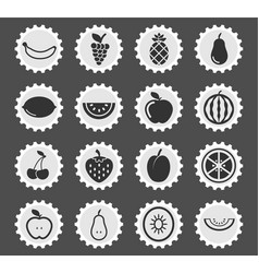 Fruits simply icons vector