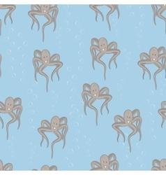 Funny sea octopus vector image