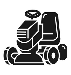 Grass cut machine icon simple style vector